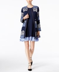 Inc International Concepts Lace Coat Only At Macy's Deep Twilight Ombre