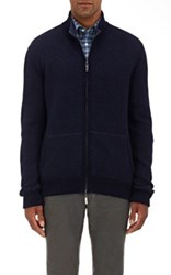 Luciano Barbera Men's Cashmere Reversible Sweater Light Blue
