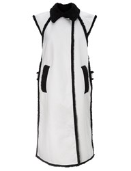 Rachel Comey White Sleeveless Contrast Lining Coat Multi