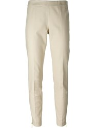 Michael Michael Kors Zip Cuff Trousers Nude And Neutrals