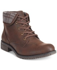 White Mountain Neponset Lace Up Hiking Booties Women's Shoes Brown
