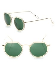 Kyme Omar 44Mm Modified Round Sunglasses Green