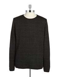 Tiger Of Sweden Checked Merino Wool Sweater Black