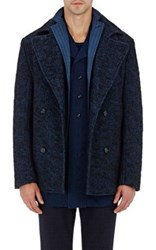 Eidos Men's Boucle Peacoat Navy