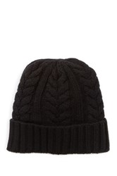 Px Cable Knit Wool Blend Beanie Black