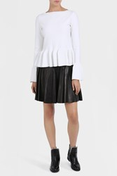 Alaia Women S Cuir Leather Flare Skirt Boutique1 Black