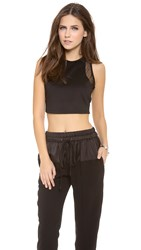 Lovers Friends Cropped Tank Black