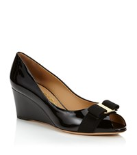 Salvatore Ferragamo Sissi Patent Wedge Pump Female