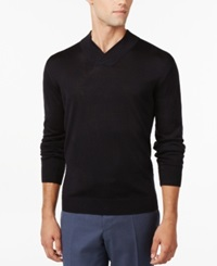 Ryan Seacrest Distinction Modern Shawl Collar Sweater Only At Macy's Navy