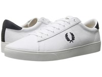 Fred Perry Spencer Canvas White Navy Men's Lace Up Casual Shoes