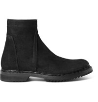 Rick Owens Creeper Distressed Suede Boots Black