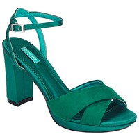 John Lewis Dusty Block Heeled Sandals Green
