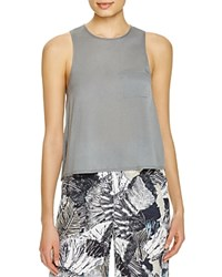 French Connection Polly Plains Pocket Tank Tribal Green