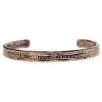 House Of Alaia Live Your Dreams Cuff Antiqued Bronze