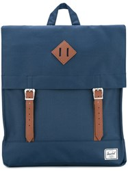 Herschel Supply Co. Double Strap Square Backpack Blue