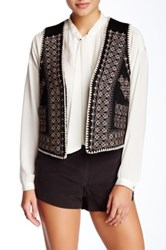 Gypsy05 Faux Fur Lined Embroidered Vest Multi