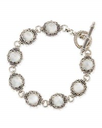 Konstantino Small Aura Silver And Mother Of Pearl Cushion Bracelet White