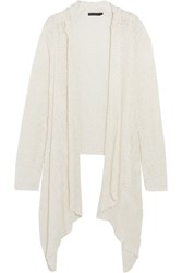 Donna Karan Open Knit Silk Cardigan White