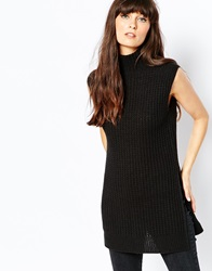 Vero Moda Roll Neck Tabbard Black