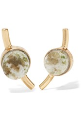 Cornelia Webb Gold Plated Marble Earrings Green