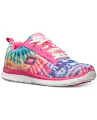 Skechers Women's Flex Appeal Limited Edition Memory Foam Running Sneakers From Finish Line Pink Multi