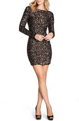 Dress The Population 'Lola' Sequin Body Con Dress Anitque Gold