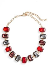 Nordstrom Women's Crystal Collar Necklace Red Multi Gold