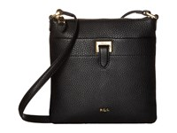 Lauren Ralph Lauren Carlisle Ayla Flat Crossbody Black Cross Body Handbags