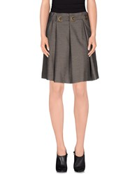 Armani Jeans Skirts Knee Length Skirts Women Grey