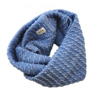 Hcr Waves Loop Scarf Blue