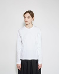Comme Des Garcons Long Sleeve Tee White