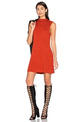 Rvca Banked Sweater Dress Rust