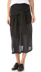 Joseph Knotted Skirt Black