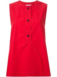 Christophe Lemaire 'Liquette' Sleeveless Top Red