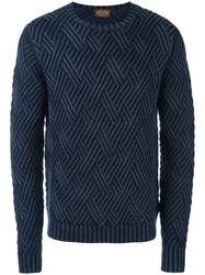 Tod's Frosted Effect Jumper Blue