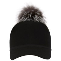 Charlotte Simone Women's Sass Cap Single Pom Silver One Size