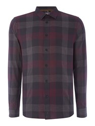 Linea Men's Laval Check Long Sleeve Shirt Red
