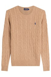 Polo Ralph Lauren Merino Wool Cable Knit Pullover Beige