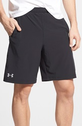 Under Armour 'Launch' Heatgear Woven Running Shorts 9 Inch Black Black Rflctve Silver
