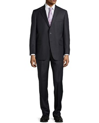 Hickey Freeman Two Button Two Piece Suit Charcoal