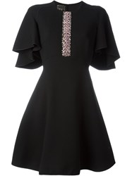 Giambattista Valli Embellished Flare Dress Black