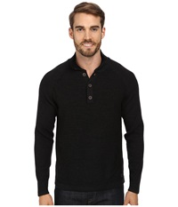 Smartwool Pioneer Ridge Half Button Sweater Charcoal Heather Men's Long Sleeve Pullover Gray