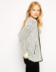 Bellfield Fluffy Cardigan Cream