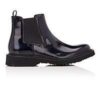 Prada Men's Plain Toe Chelsea Boots Navy