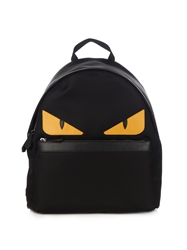 Fendi Roll Monster Nylon And Leather Backpack