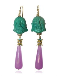 Katerina Psoma Buddha Pendant Earrings