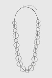 Topshop Circle Linked Necklace Silver