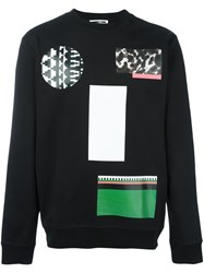 Mcq By Alexander Mcqueen Mixed Print Sweatshirt Black