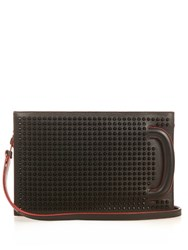 Christian Louboutin Trictrac Spikes Leather Bag Black