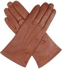Dents Cashmere Lined Leather Gloves Cognac